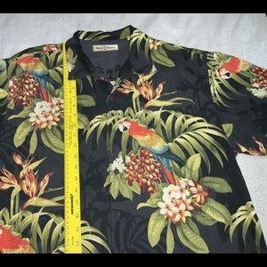 TOMMY BAHAMA Camp Shirt Silk Mens L Used VINTAGE